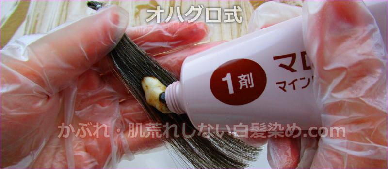 非ジアミン系白髪染め オハグロ式 1剤 使い方