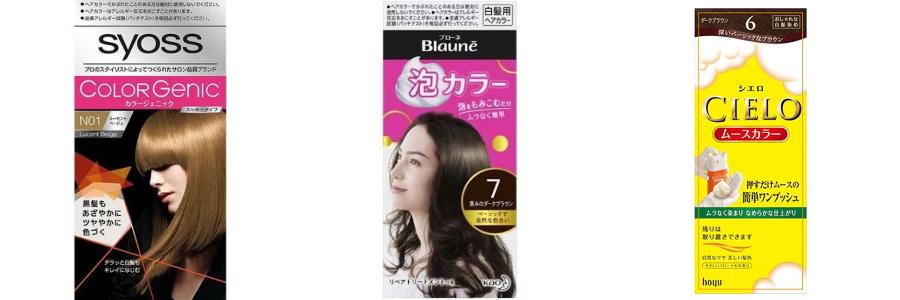 一般的にイメージする『白髪染め』商品はカラー剤が多い。