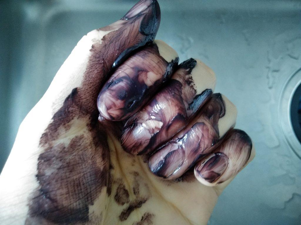 ルプルプ 素手 手袋 落ちない 爪