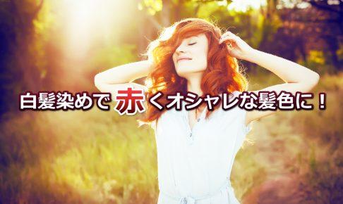白髪染め 赤