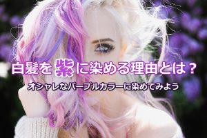 白髪染め 紫