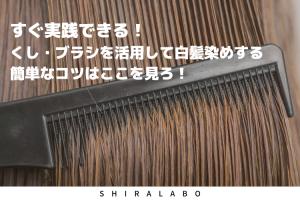 すぐ実践できる!くし・ブラシを活用して白髪染めする簡単なコツはここを見ろ!
