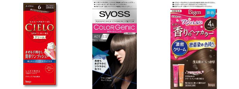 ヘアカラータイプの白髪染めはこういう商品が多い