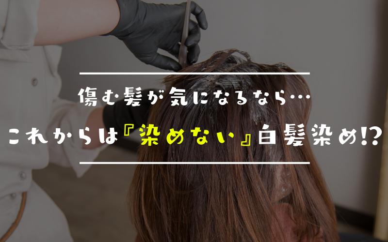 痛む髪が気になるなら…これからは「染めない」白髪染めがおすすめ?