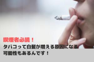 喫煙者必読!タバコって白髪が増える原因になる可能性もあるんです!